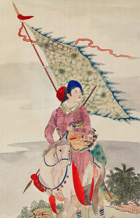 """Mulan Joins the Army"" by Qing Dynasty artist Wang Qi (Public domain)."